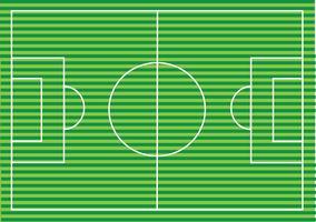 Strukturierte Rasenfläche des Fußballplatzes oder des Fußballs vektor