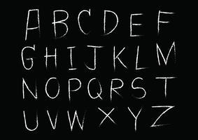 Handritad bokstavsalfabet skriven med borsten vektor
