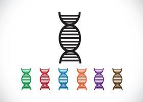 DNA-Zeichen-Synbol-Symbol vektor