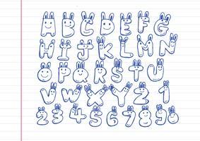 Hand gezeichneter Buchstabeguß geschrieben mit einem Stift vektor