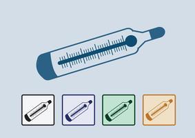 Medizinische Thermometer-Web-Symbol vektor