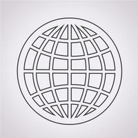 Globe Icon Symbol Zeichen vektor