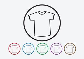 Kleiderhemd und T-Shirt-Ikone Kleidungsikonen vektor