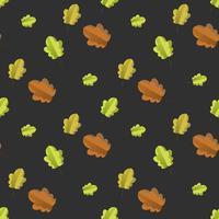 Nahtloses Muster mit buntem Herbstlaub. vektor