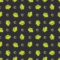 Seamless mönster med färgglada höstlöv. vektor