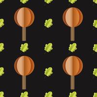 Färgglada sömlösa mönster av träd och blad klippta ur papper vektor