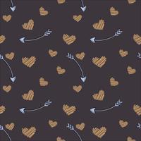 Nahtloses Muster des Vektors von flachen Elementen. Romantik, Liebe, Hochzeit