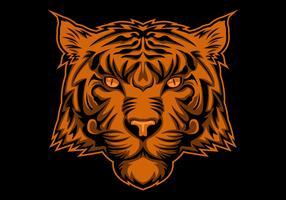 tigerhuvudillustration vektor