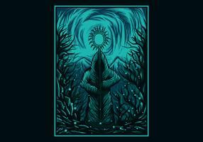 Zauberkraft-Vektor-Illustration