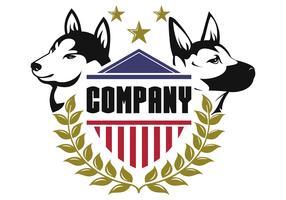 Sicherheit Hund Logo Vektor