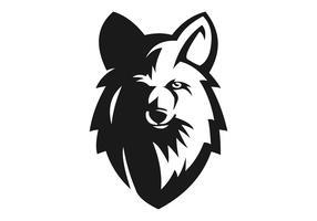 wolf head e sport maskot vektorillustration