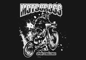 Motocross Sport Herausforderung Vektor-Illustration