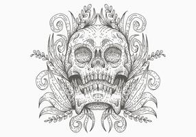 skalle dekoration vektorillustration