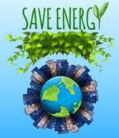 Speichern Sie das Energiesymbol