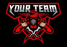 Kris Esport Maskottchen-Spiel-Team vektor