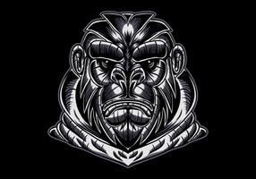 gorilla ansikte vektorillustration