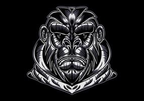 gorilla ansikte vektorillustration vektor