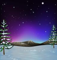 Naturszene mit Schnee aus den Grund vektor