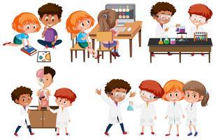 Grupp av studentinlärning