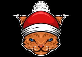 Katze Frohe Weihnachten vektor