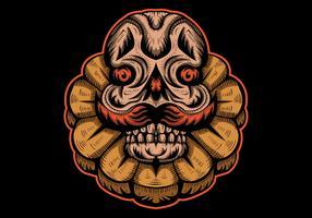 Monster klassische Vektor-Design-Illustration