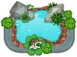 Ein Teich isoliert vektor