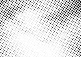 Abstrakter Halbtonhintergrund und Schmutzbeschaffenheit verblassen punktierte Steigung auf weißem Hintergrund.