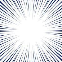 Blå radiella linjer för serietidningbakgrund. Manga hastighetsram. vektor