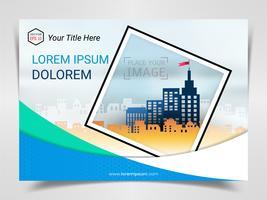 Druckwerbebereite Vorlage, A4-Format für das Layout der Unternehmensmarketingpräsentation und Umschlaggestaltung.