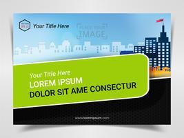 Skriv ut reklamklar mall, A4-storlek för företagets marknadsföring Presentationslayout och omslag design.
