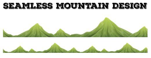 Sömlös bergskedja design vektor