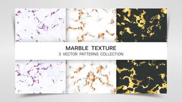 Marmorstruktur, premiumuppsättning av vektormönstersamling.