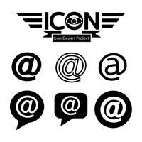 E-ikon symbol tecken vektor