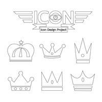 Crown icon symbol tecken vektor