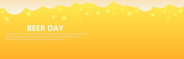Biertag Banner Hintergrund. Flache Vektorgrafik