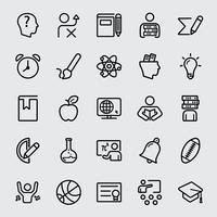 Utbildning linje ikon vektor