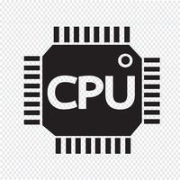 CPU-Symbol Symbol Zeichen vektor