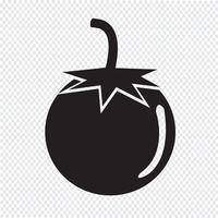 Tomaten Symbol Symbol Zeichen vektor