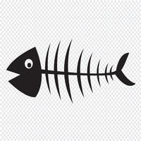 Fisk skelett symbol tecken vektor