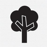 Träd ikon symbol tecken vektor