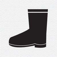 Boot-Symbol Symbol Zeichen vektor