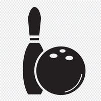 Bowling Symbol Symbol Zeichen vektor