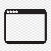 Webbläsare ikon symbol tecken