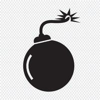 Bombe Symbol Symbol Zeichen vektor