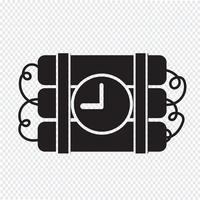 Bomb Ikon symbol tecken vektor