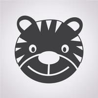Tiger ikon symbol tecken vektor