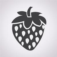 Erdbeer-Symbol Symbol Zeichen vektor