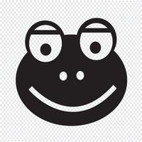 Frosch Symbol Symbol Zeichen vektor