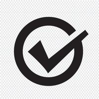 Häkchensymbol Symbol Zeichen vektor