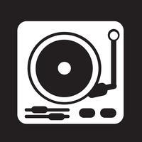skivspelare ikon symbol tecken